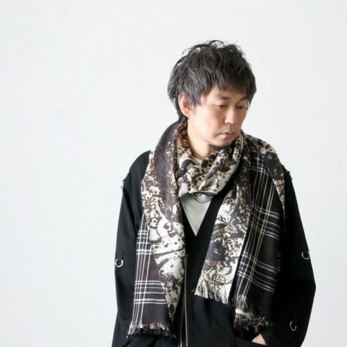 TAKAHIROMIYASHITATheSoloist. (タカヒロミヤシタザソロイスト) w face rectangle scarf