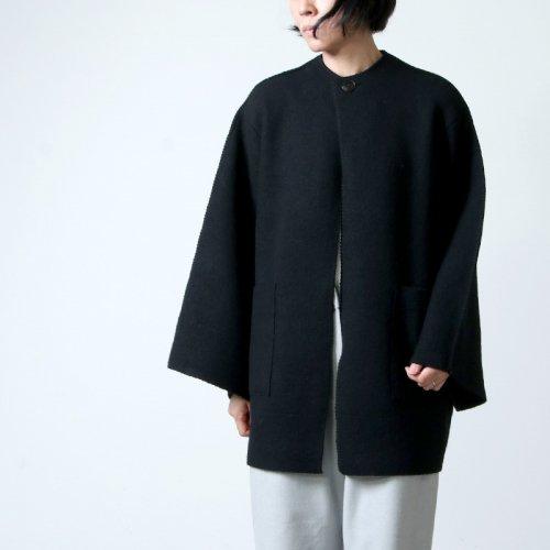 08sircus (ゼロエイトサーカス) Wool fulling knit blanket stitch coat / ウールフーリングニット ブランケットステッチコート