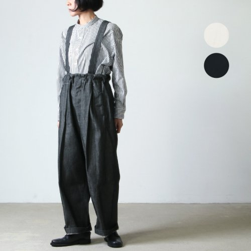 NO CONTROL AIR (ノーコントロールエアー) 16/ ムラ綿糸サテンサスペンダーパンツ