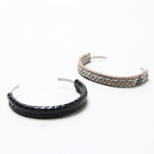 Hender Scheme (エンダースキーマ) python silver bangle S / パイソンシルバーバングル