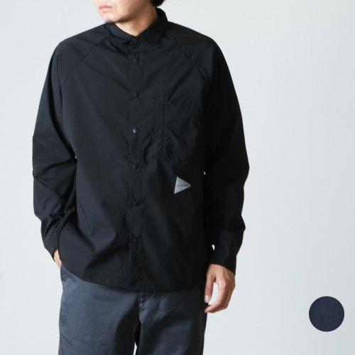 and wander (アンドワンダー) fleece base LS shirt / フリースベースロングスリーブシャツ