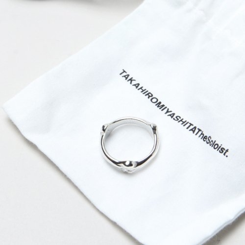 TAKAHIROMIYASHITATheSoloist. (タカヒロミヤシタザソロイスト) bone shaped band ring / ボーンシェイプ バンドリング