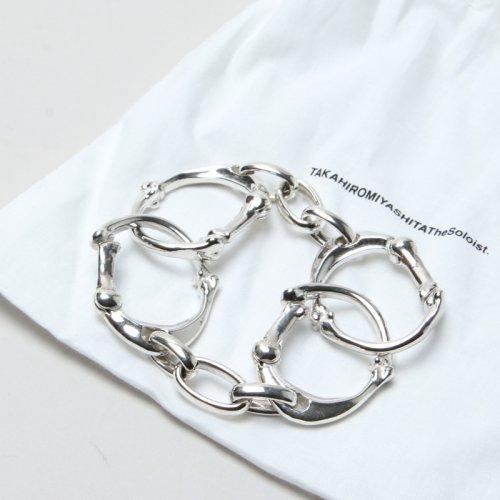 TAKAHIROMIYASHITATheSoloist. (タカヒロミヤシタザソロイスト) bone shaped carabiner bracelet L