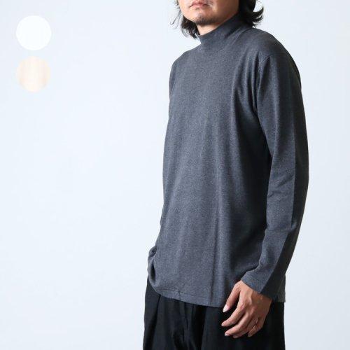 ANATOMICA (アナトミカ) MOCK NECK TEE L/S For Men / モックネックティーロングスリーブ
