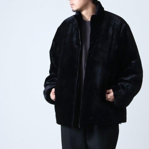 COMOLI (コモリ) シルク別珍 スタンドカラージャケット