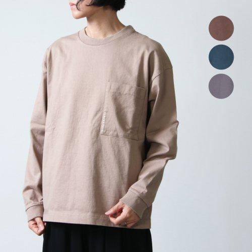 crepuscule (クレプスキュール) L/S pocket t-sh for woman / ロングスリーブポケットTシャツ レディースサイズ