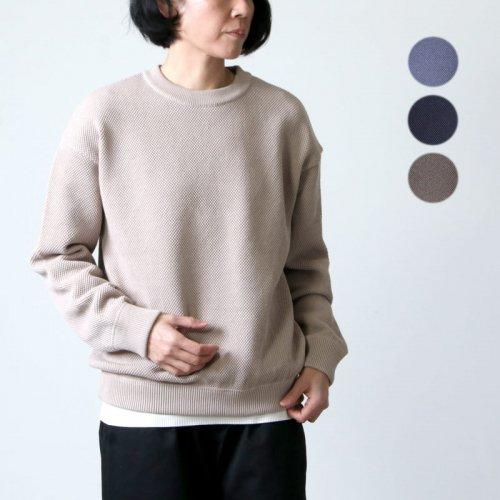 crepuscule (クレプスキュール) Moss stitch L/S sweat for woman / モススティッチロングスリーブスウェット レディースサイズ