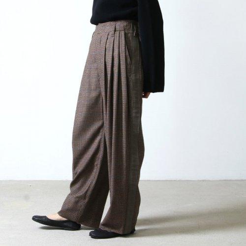 unfil (アンフィル) geelong rambs flannel wideleg trousers / ジーロンラムズフランネルワイドレッグトラウザース