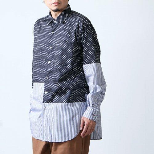 ENGINEERED GARMENTS (エンジニアードガーメンツ) Spread Collar Shirt - Big Polka Dot / スプレッドカラーシャツ ビッグポルカドット