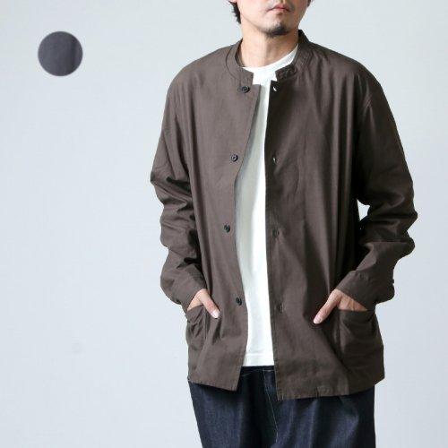 THE HINOKI (ザ ヒノキ) コットンネップパラシュートクロス スタンドアップカラーシャツ
