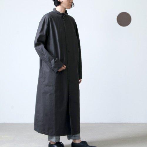 THE HINOKI (ザ ヒノキ) コットンネップパラシュートクロス スタンドアップカラーシャツドレス