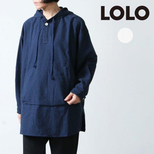 LOLO (ロロ) フード付きプルオーバー ビッグシャツ フランネル size:S