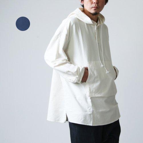 LOLO (ロロ) フード付きプルオーバー ビッグシャツ フランネル