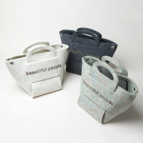 beautiful people (ビューティフルピープル) recycled felt assemble bag / リサイクルフェルトアッセンブルバッグ