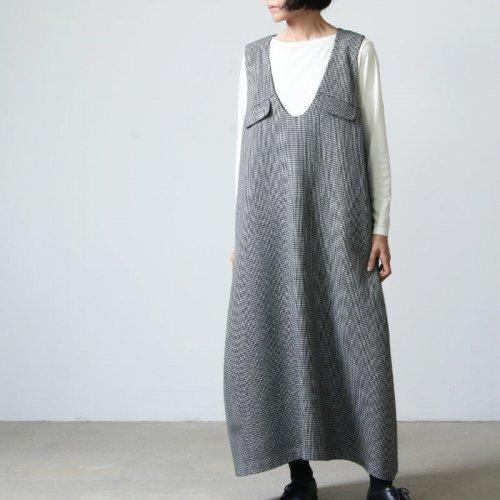 FACTORY (ファクトリー) ウール千鳥格子 ジャンパースカート