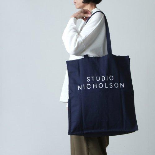 STUDIO NICHOLSON (スタジオニコルソン) COTTON CANVAS THE LARGE TOTE STANDARD TOTE / コットンキャンバスラージトート