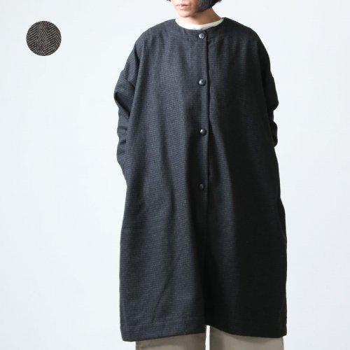 jujudhau (ズーズーダウ) ROUND NECK COAT / ラウンドネックコート