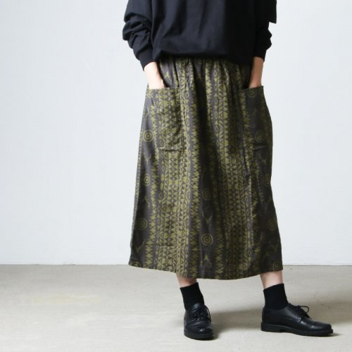 South2 West8 (サウスツーウエストエイト) Army String Skirt - Flannel Pt. / アーミーストリングスカート フランネルプリント
