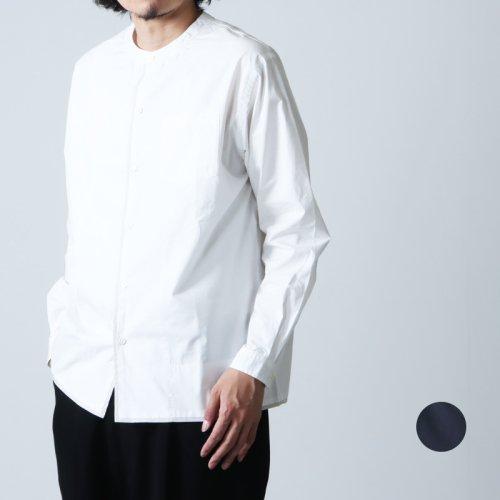 nisica (ニシカ) バンドカラーシャツ インディゴ