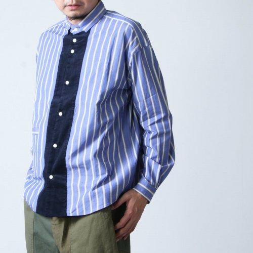 nisica (ニシカ) 切り替えシャツ ストライプ