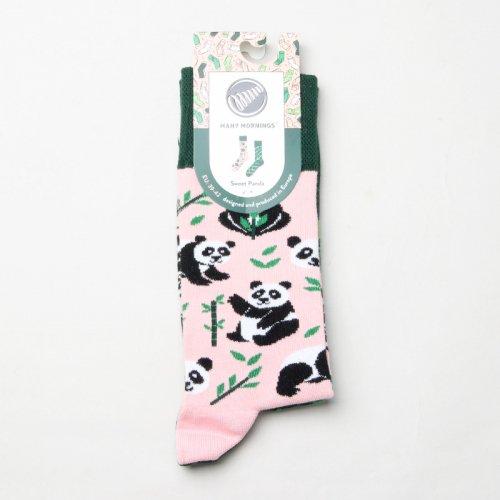 MANY MORNINGS (メニーモーニングス) Regular Socks Sweet Pand / レギュラーソックス スウィートパンダ