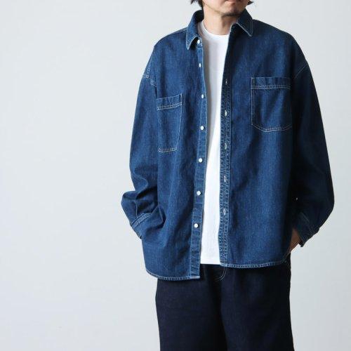 Graphpaper (グラフペーパー) Denim Regular Collar Shirt FADE / デニムレギュラーカラーシャツ フェード