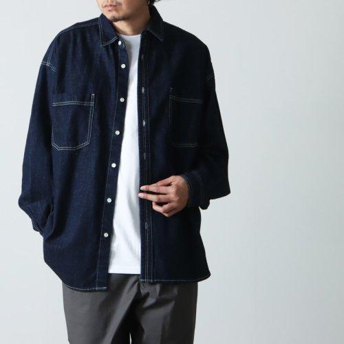 Graphpaper (グラフペーパー) Denim Regular Collar Shirt / デニムレギュラーカラーシャツ