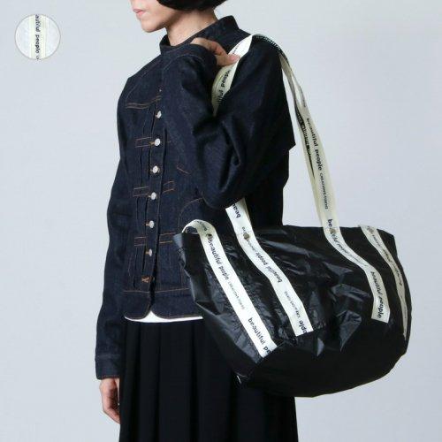 beautiful people (ビューティフルピープル) sail cloth logo tape shift bag S / セイルクロスロゴテープシフトバッグ