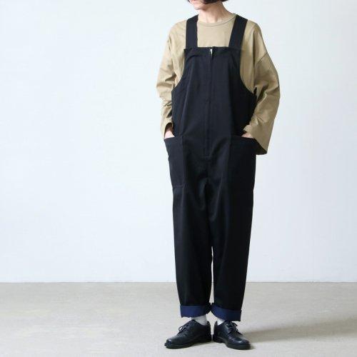 beautiful people (ビューティフルピープル) selvedge logo chino salopetto pants / セルヴィッチロゴチノサロペットパンツ