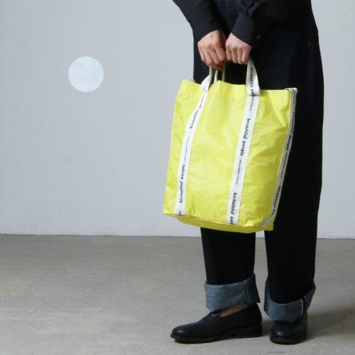 beautiful people (ビューティフルピープル) sail cloth logo tape shoulder bag / サイルクロスロゴテープショルダーバッグ