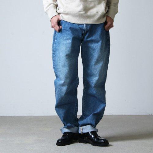 CIOTA (シオタ) インディゴ スビンコットン 13.5oz テーパードデニム ミディアムブルー