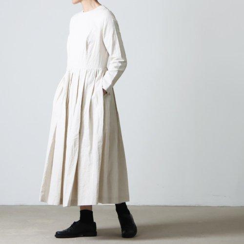 YAECA (ヤエカ) WRITE TUCK DRESS LIBERTY / ライトタックドレスリバティ