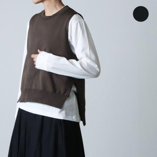 mizuiro ind (ミズイロインド) crew neck vest / クルーネックベスト