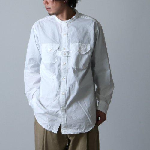 ENGINEERED GARMENTS (エンジニアードガーメンツ) Banded Collar Shirt / バンドカラーシャツ