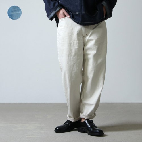 unfil (アンフィル) 12oz cotton denim 5pocket wide tapered pants