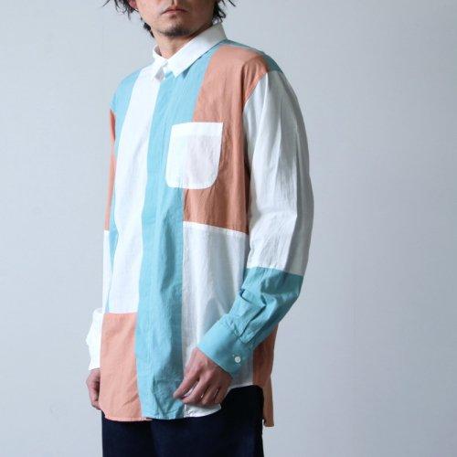 ENGINEERED GARMENTS (エンジニアードガーメンツ) Combo Short Collar Shirt -Solid Cotton Lawn / コンボショートカラーシャツ
