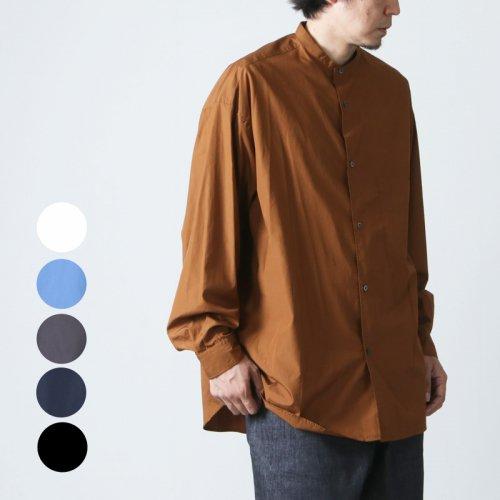 Graphpaper (グラフペーパー) Broad Oversized L/S Band Collar Shirt / ブロードオーバーサイズドロングスリーブバンドカラーシャツ