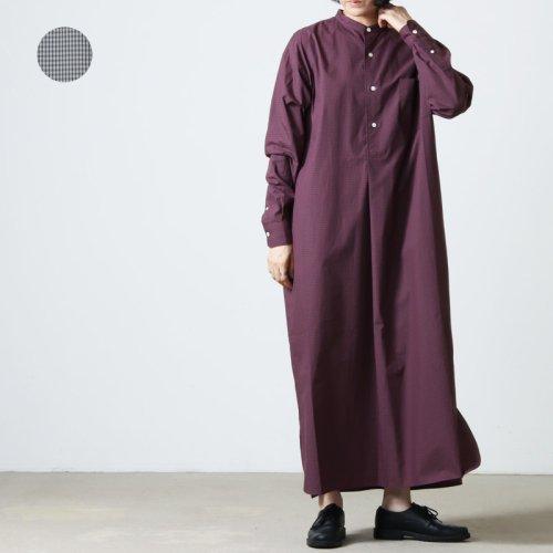LENO (リノ) BAND COLLAR PULLOVER DRESS / バンドカラープルオーバーシャツドレス