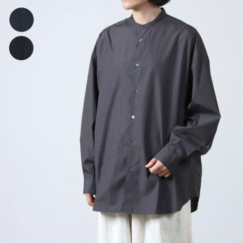 Graphpaper (グラフペーパー) Broad Oversized L/S Band Collar / ブロードオーバーサイズドバンドカラーシャツ