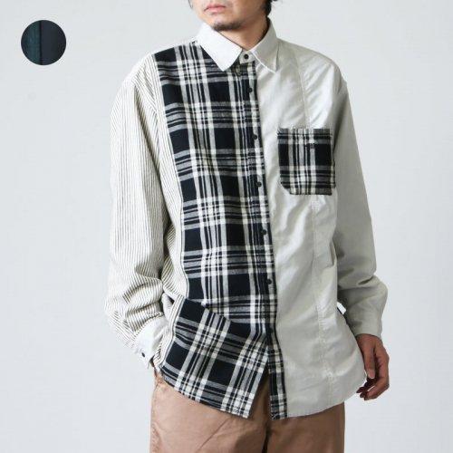 THE NORTH FACE PURPLE LABEL (ザ ノースフェイス パープルレーベル) Plaid Patchwork Shirt / プレイドパッチワークシャツ