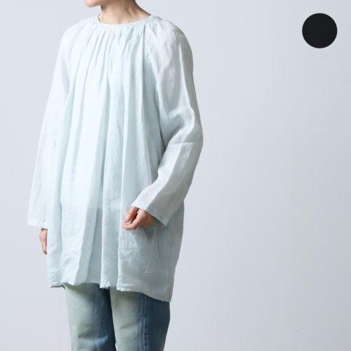 unfil (アンフィル) french linen ribbed-knit sleeveless top / フレンチリネンリブ付きスリーブレストップ