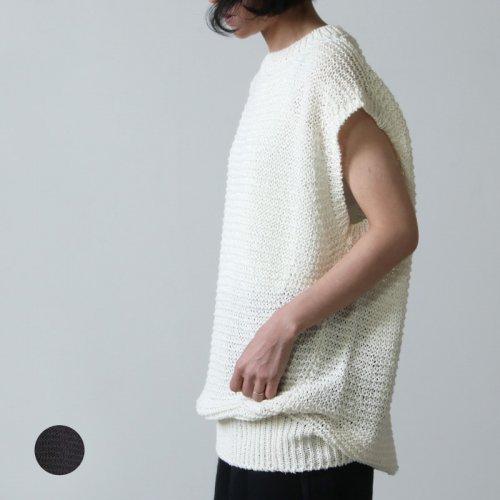 unfil (アンフィル) paper & cotton rough gauze sleeveless top / ペーパーアンドコットンローガーゼスリーブレストップ