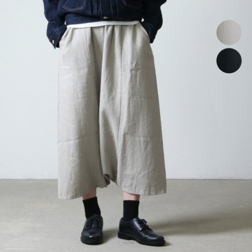 evameva (エヴァムエヴァ) raising linen sarrouel pants / レイジングリネンサルエルパンツ
