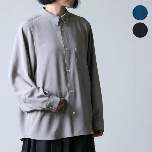 Graphpaper (グラフペーパー) Matte Satin Regular Collar Big Sleeve Shirt / マットサテンレギューラーカラービッグスリーブシャツ