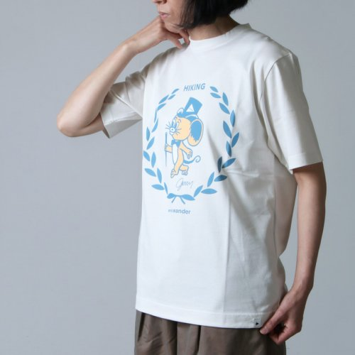 and wander (アンドワンダー) JERRY T by JERRY UKAI short  sleeve T for woman