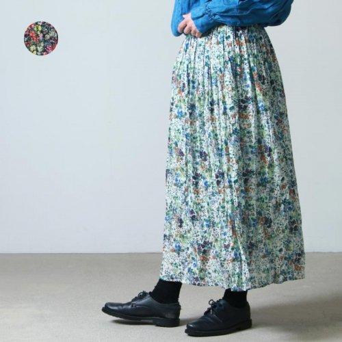 MidiUmi (ミディウミ) フレンチプリントフレアスカート