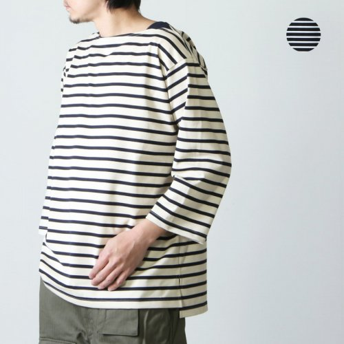 A VONTADE (ア ボンタージ) Boatneck 3/4 Sleeve - Border - / ボートネック3/4スリーブ ボーダー