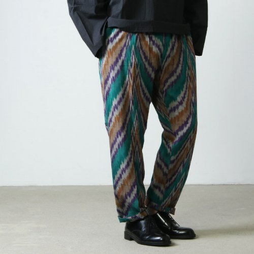 South2 West8 (サウスツーウエストエイト) String Slack Pant - Ikat Wave / ストリングスラックパンツ