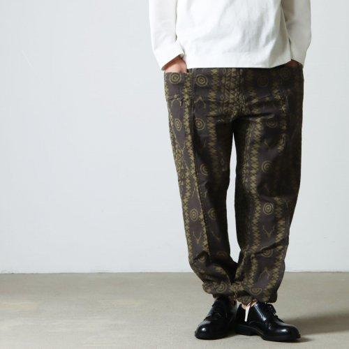 South2 West8 (サウスツーウエストエイト) String Slack Pant - Batik Over Print / ストリングスラックパンツ