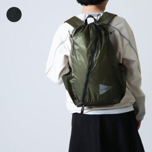 and wander (アンドワンダー) sil daypack / シルデイパック